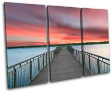 Lake Jetty Pier Sunset Seascape - 13-1537(00B)-TR32-LO